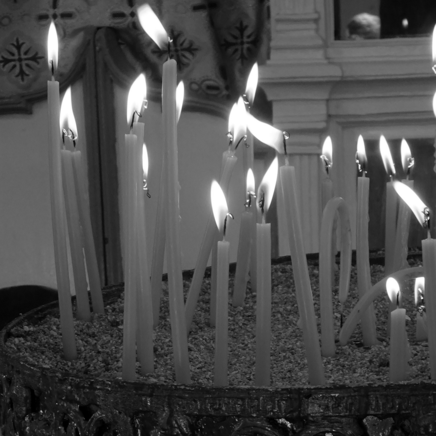 Long burning, and melting church candles