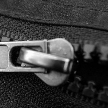 Zipper shown slightly open